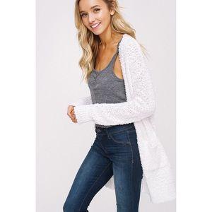 likeNarly Sweaters - >>LAST<< Polly Popcorn Chunky Cardigan - Ivory